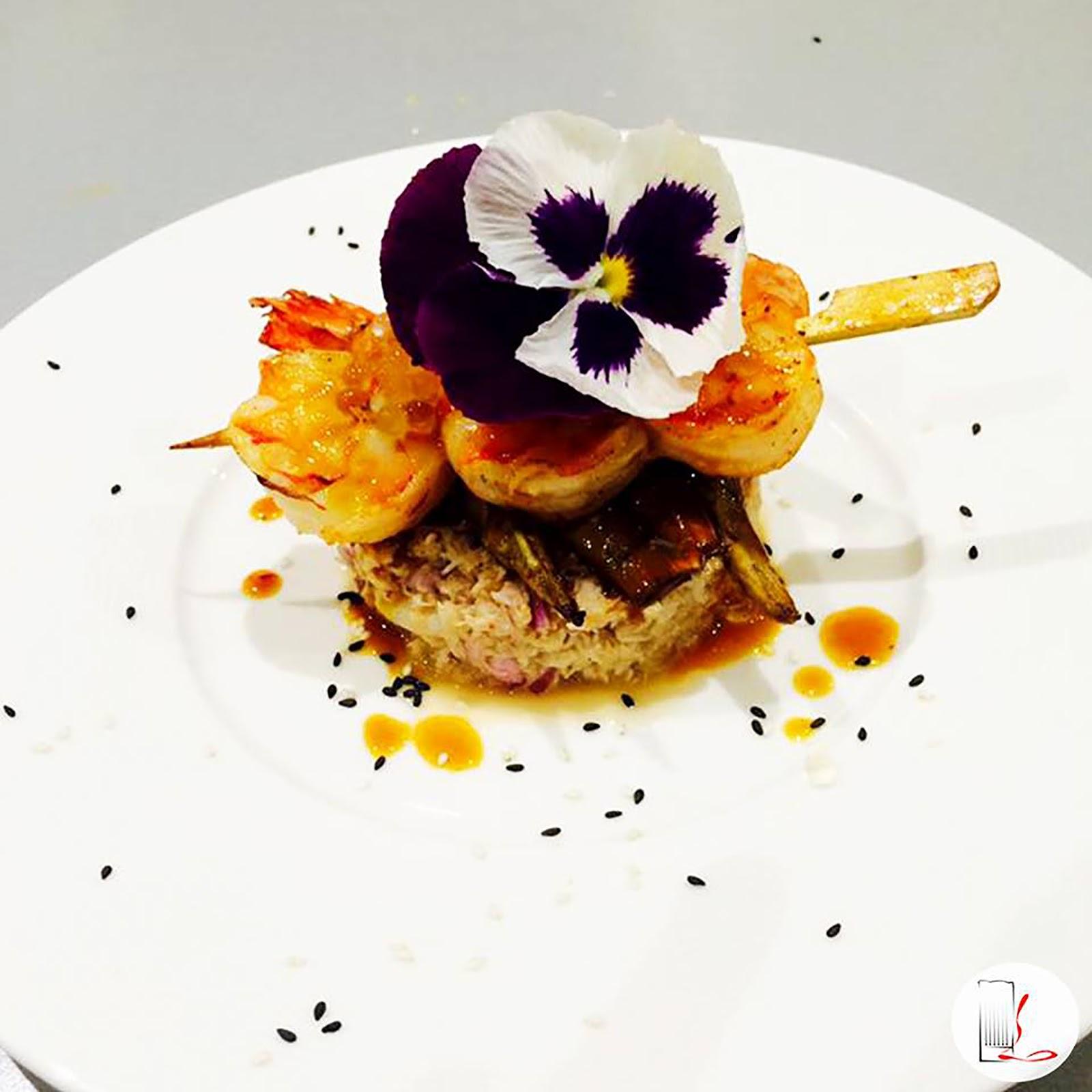 Tartare de tourteau d'aneth et coriandre, brunoise de mangue,  ceviché de Saint-Jacques